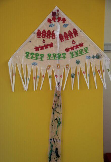 幼儿园老师手工雨伞绘画图片